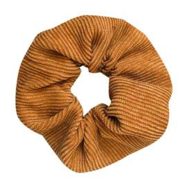 Scrunchie rib - oud geel