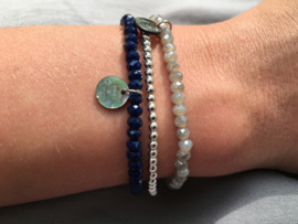 Bijoux armband - lichtgrijs