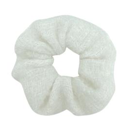 Scrunchie wollig - crème