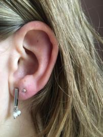 MOOI! Jewels oorbellen - twinkle licht roze