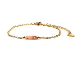 Winkel van Indah armband - tube jaspis perzik goud