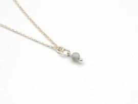Winkel van Indah ketting - aquamarijn facet 925 zilver