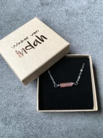 Winkel van Indah armband - toermalijn roze zilver