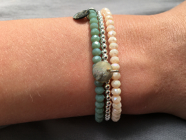 Bijoux armband - zachtgroen
