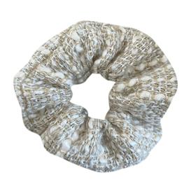 Scrunchie wollig - beige
