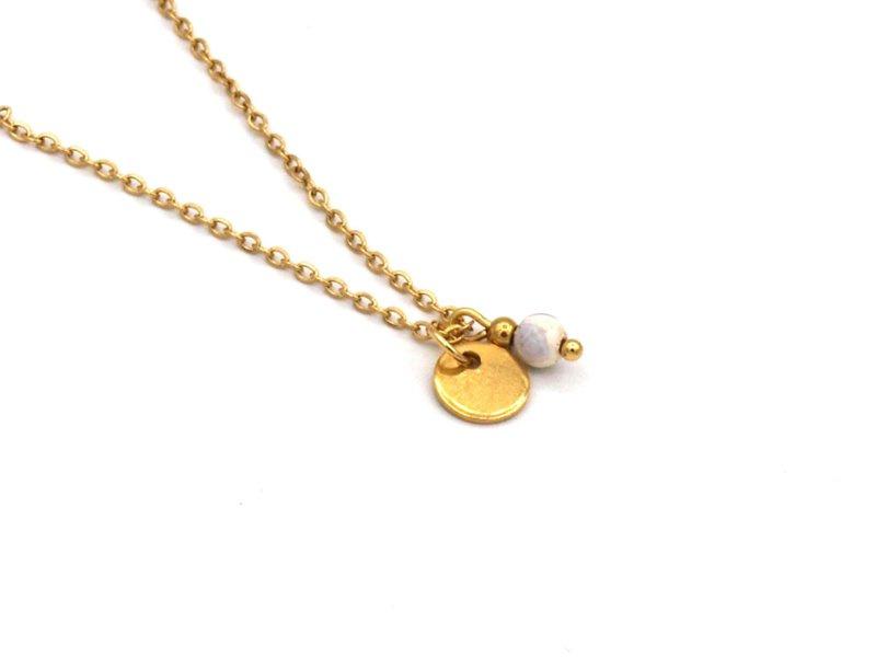 Winkel van Indah ketting - munt jade goud