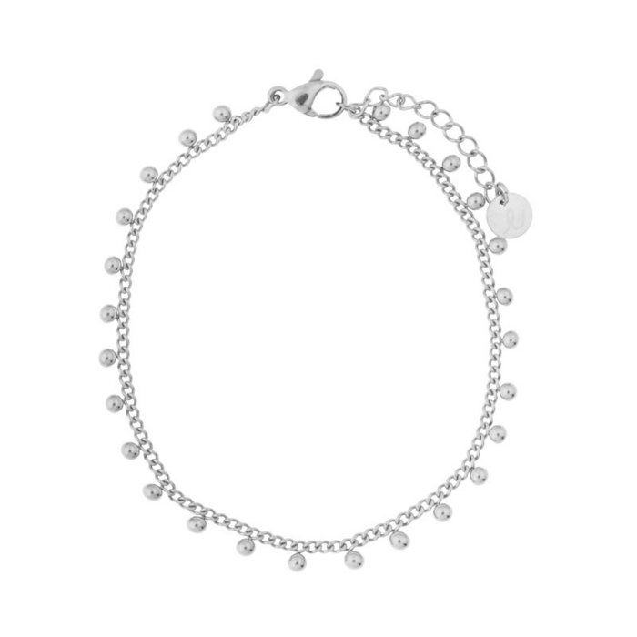 Essentialistics armband - dots silver