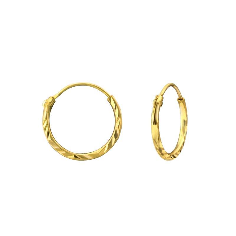 Winkel van Indah oorringen - twisted gold