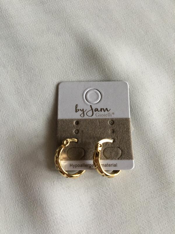 By Jam Gioielli oorringen - vintage goud