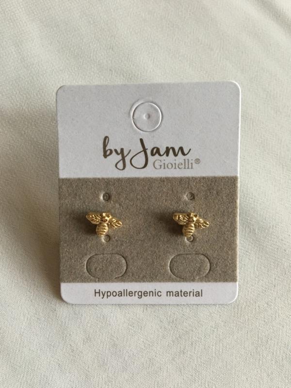 By Jam Gioielli oorbellen - bijtje goud