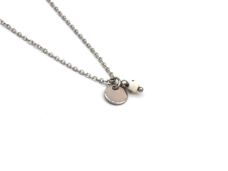 Winkel van Indah ketting - munt jade zilver