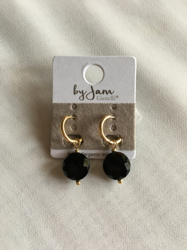 By Jam Gioielli oorbellen - zwart goud