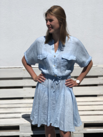 Linnen kleedje, Amandine, lichtblauw