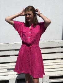 Linnen kleedje, Amandine, fuchia