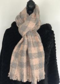 Sjaal rose/grey