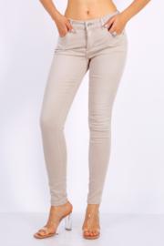 Half hoge taille, beige broek