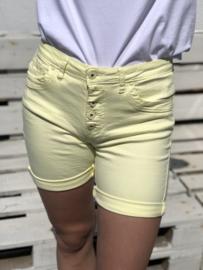 Toxik short, jeansmodel , geel