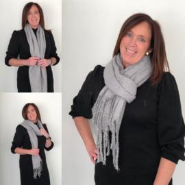 Sjaal, basic, dark grey