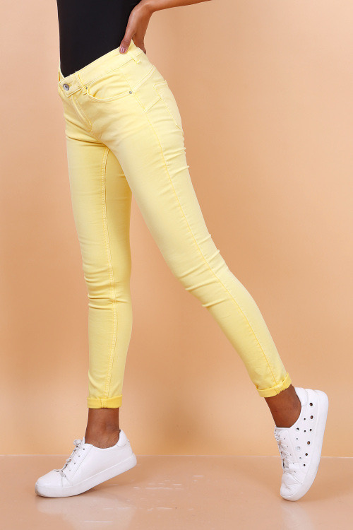 Toxik3, mid high waist, geel