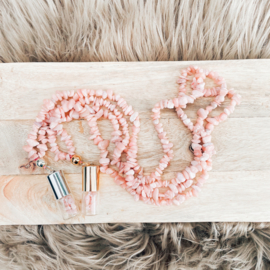 Rollerball Chip Ketting Roze Opaal