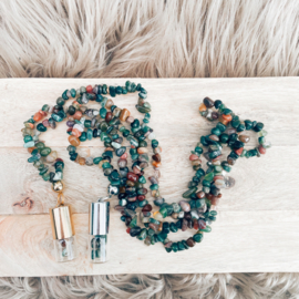 Rollerball Chip Ketting Indian Agaat