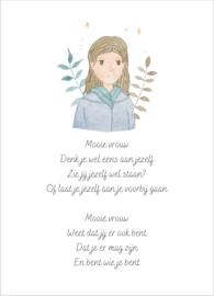 Mooie vrouw   Vrouwenkaart   Kaart voor een vrouw