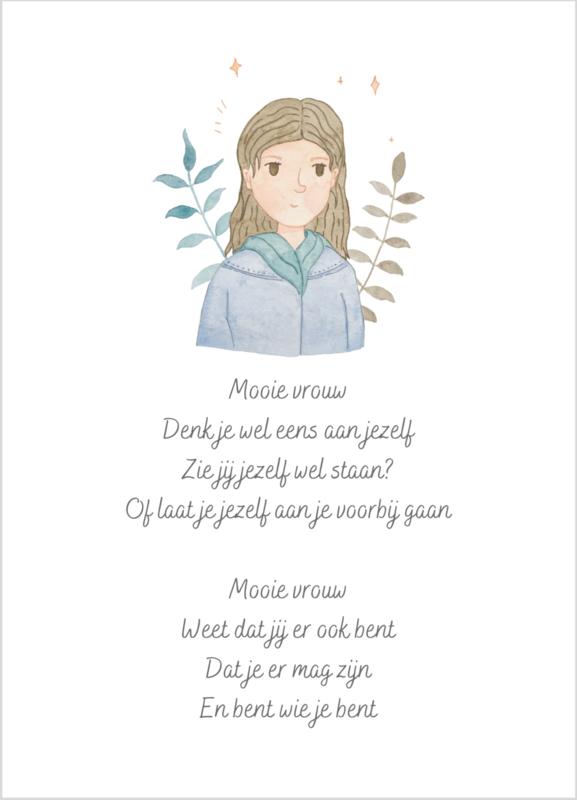 Mooie vrouw | Vrouwenkaart | Kaart voor een vrouw