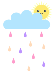 Wolken, Zon & Regen poster
