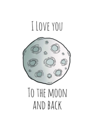 Maan - I love you to the moon and back