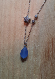 Ketting star blue