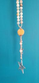 Ketting Beads Star Yellow