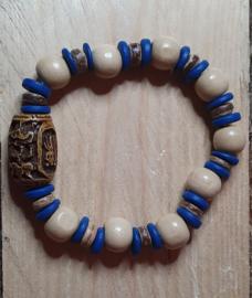 Armband beige / blauw