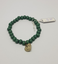 Armband groen hartje