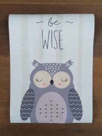Poster Owl Be Wise