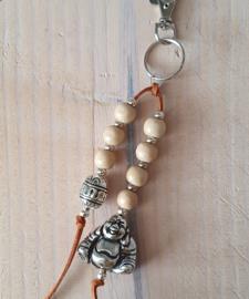 Sleutelhanger Buddha bruin