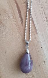 Ketting met natuursteen hanger paars