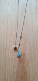 Ketting star turquoise
