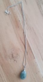 Ketting met natuursteen hanger grey