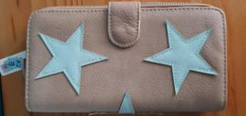 Portemonnee Dubbel Star Beige / Mint