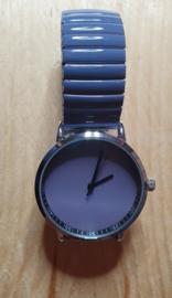 Horloge grijs/blauw rekband