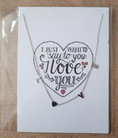 Card Love met ketting