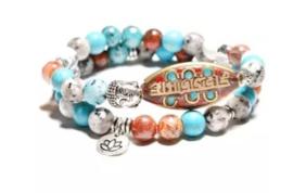 Armband natuursteen vintage tribal