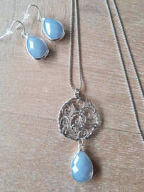 Necklace balance silver Opaal Blue