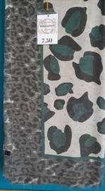 Sjaal panter groen