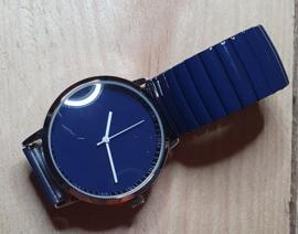 Horloge blauw rekband