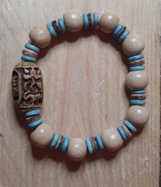 Armband beige / turquoise