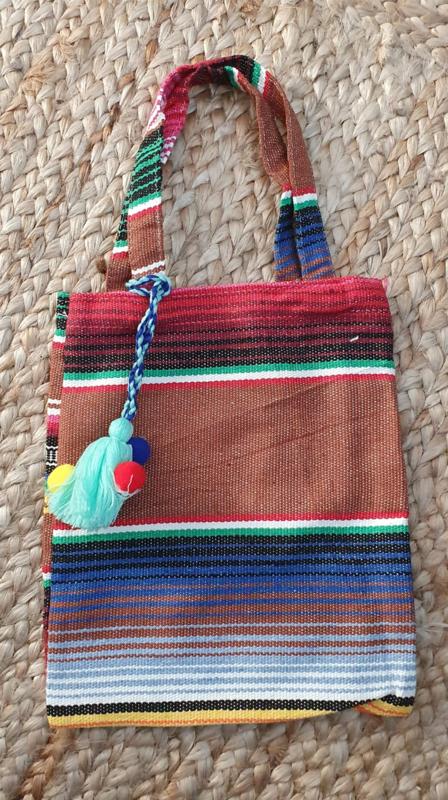 Peru Bag met mint kwast