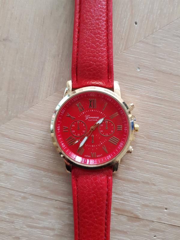 Horloge Geneva Red