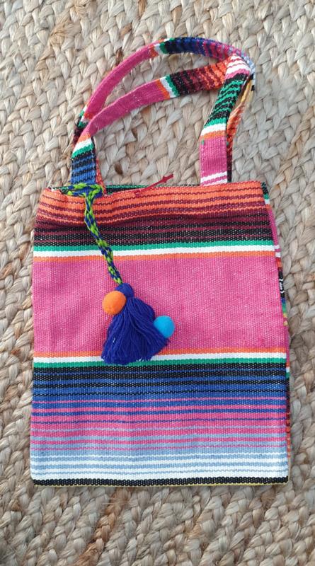 Peru Bag met blauwe kwast