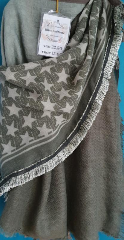 Sjaal groen star